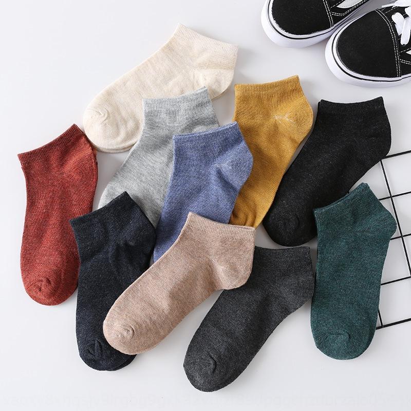 5hFwD primavera y el barco calcetines de los hombres del algodón de tubo corto de color sólido barco par de la boca baja calcetines de los deportes de los hombres y desodorantes de otoño