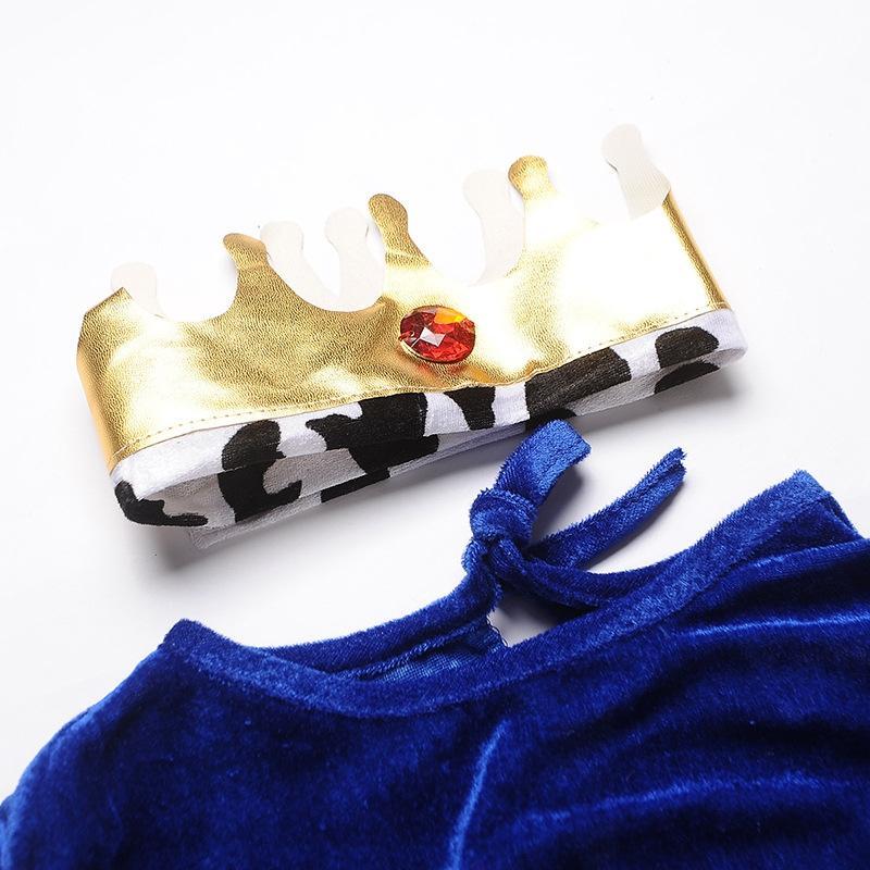 XRCHR Halloween rei príncipe fase tema terno roupas desempenho das crianças para os homens do Dia das Bruxas traje rei fase príncipe tema terno crianças