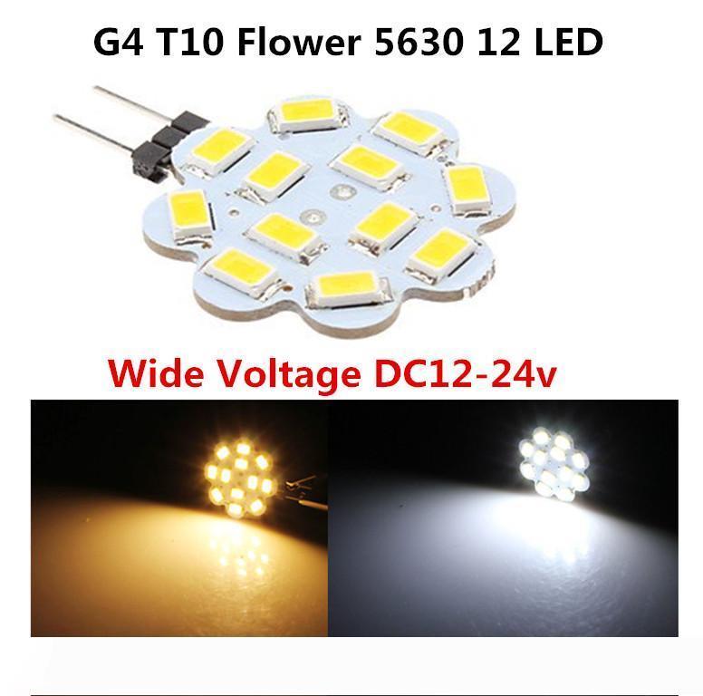 Marine RV condotto G4 T10 921 194 lampada di cristallo chandilier W5W Wedge 12 5630 SMD LED luce bianca