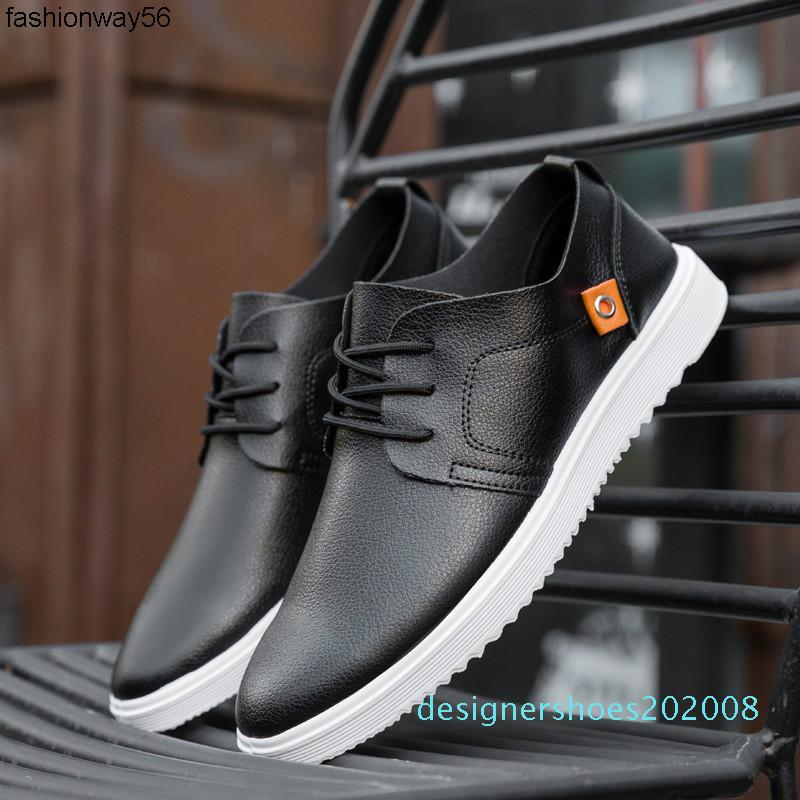 2019 Neue britische Art-Mann-Qualität Freizeitschuh Leichtes Paris Design Komfortable atmungsaktive flache Schuhe Männer K8-54 D08