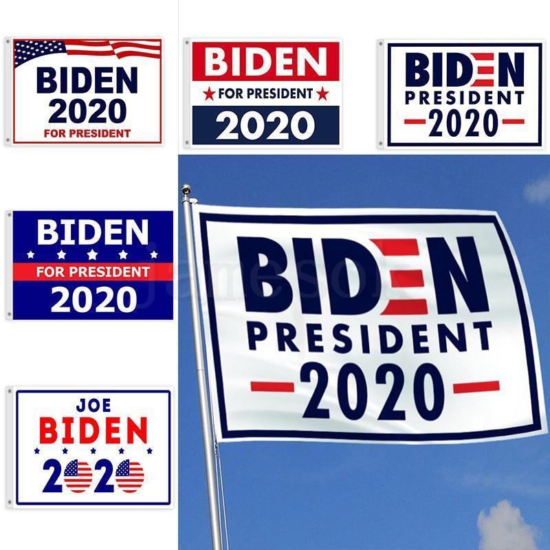 90 * 150см Джо Байдена флаг 2020 США президентской партии поставки благосклонности декора выборов на открытом воздух * 3 фута флаг 5ft баннера DHA166