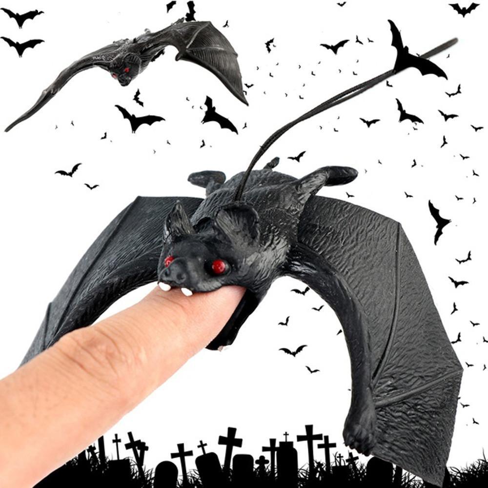 Suprimentos Halloween Lifelike Falso Bat Hanging Scene Prop truque Toy Pingente de Fundo DIY Halloween decoração do partido