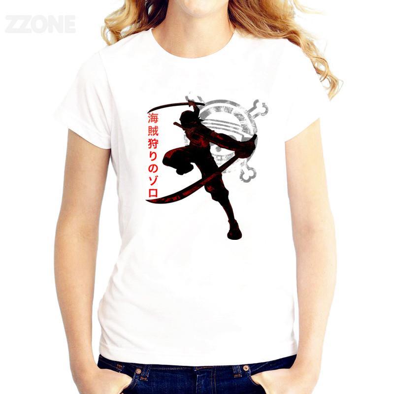 One Piece Mulheres Impresso T-shirt de zero bom camisetas Qualidade manga curta T-shirt O pescoço Moda T-shirt