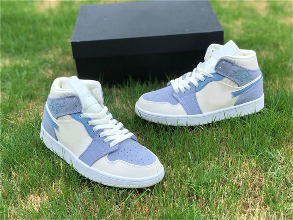 New Hot Authentic 1 Mid 1 1s Basketball-Schuhe Männer Frauen Schuhe mit ursprünglichem Kasten Chaussures Schuhe scarpa DA4666-100