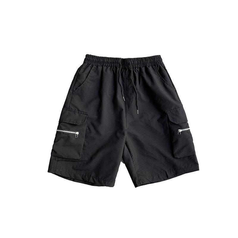 Zip bolso de carga Shorts para Homens Masculino Casual Calças Harajuku ulzzang Verão Suor Calças Streetwear 2020