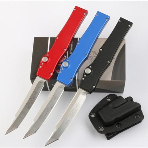 V única ação toda punho azul autodefesa tática verde vermelho preto dobrável personalizado faca automática facas automáticas auto faca