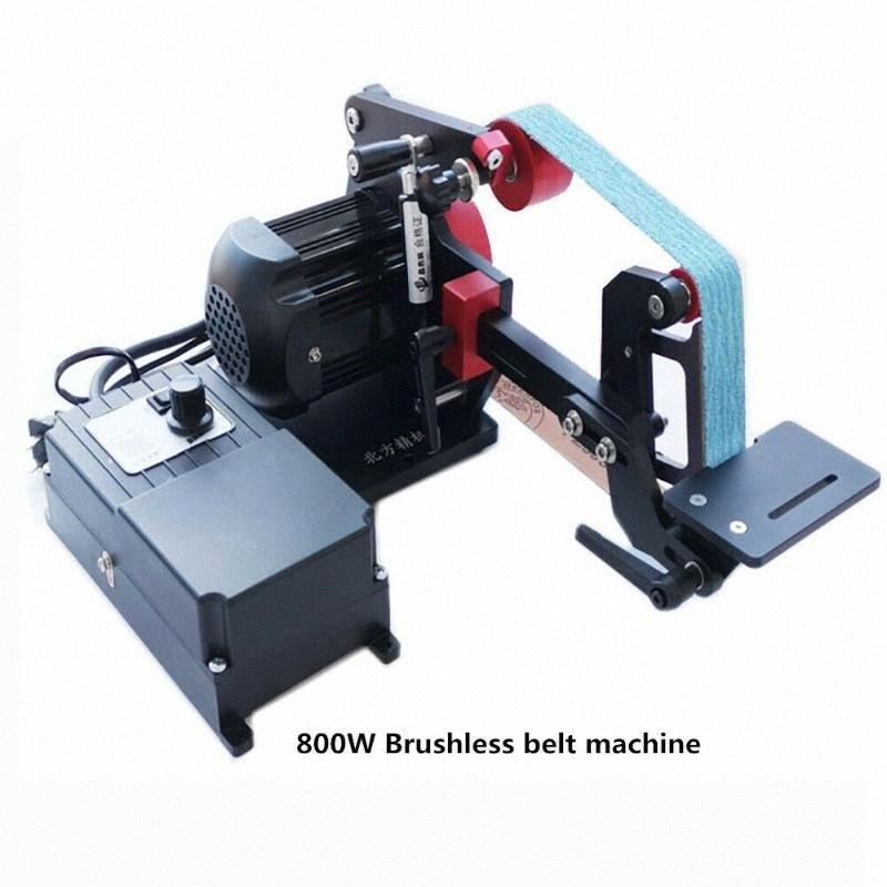 NEW Industrie-Gürtel Sander DIY Desktop-Messerschärfer Festwinkelpolierer Y 220V 800W Freie 2ST Gürtel bC7s #