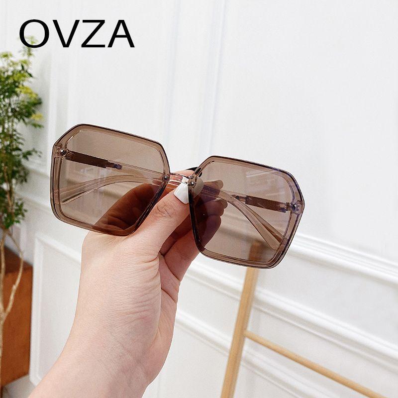 Big Womens Ovza marca para gafas11 moda rectangular diseñador UV400 Gafas de sol negras Hitwe