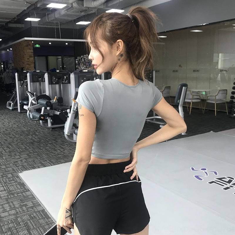 спортивный uyvQU Женская футболка короткий пупочной натяжные одежды одежда Top йога suittight похудение йога одежда топ быстросохнущие работает Трай