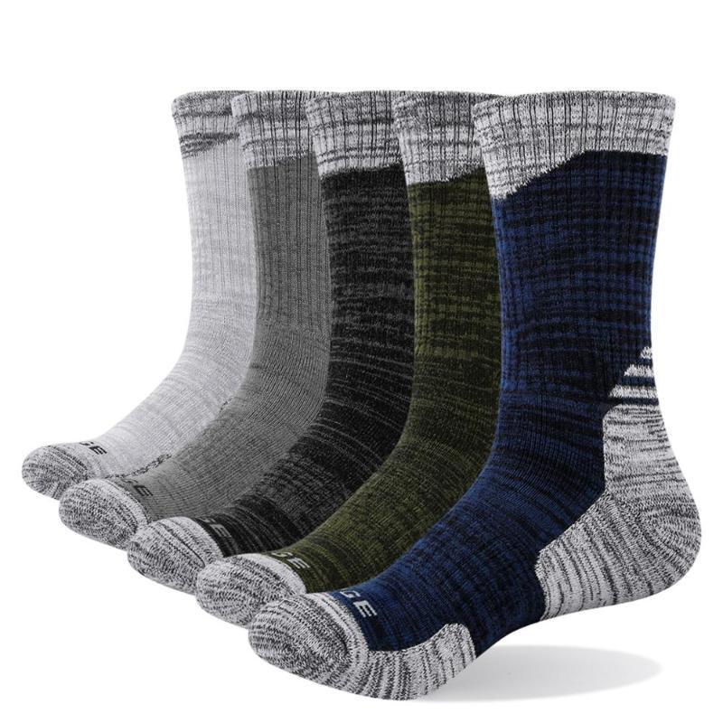 Femininos YUEDGE 5 pares Almofada de algodão Sports Comfort respirável Athletic Casual BusinessRunning Caminhadas Esportes de tripulação de vestido Socks