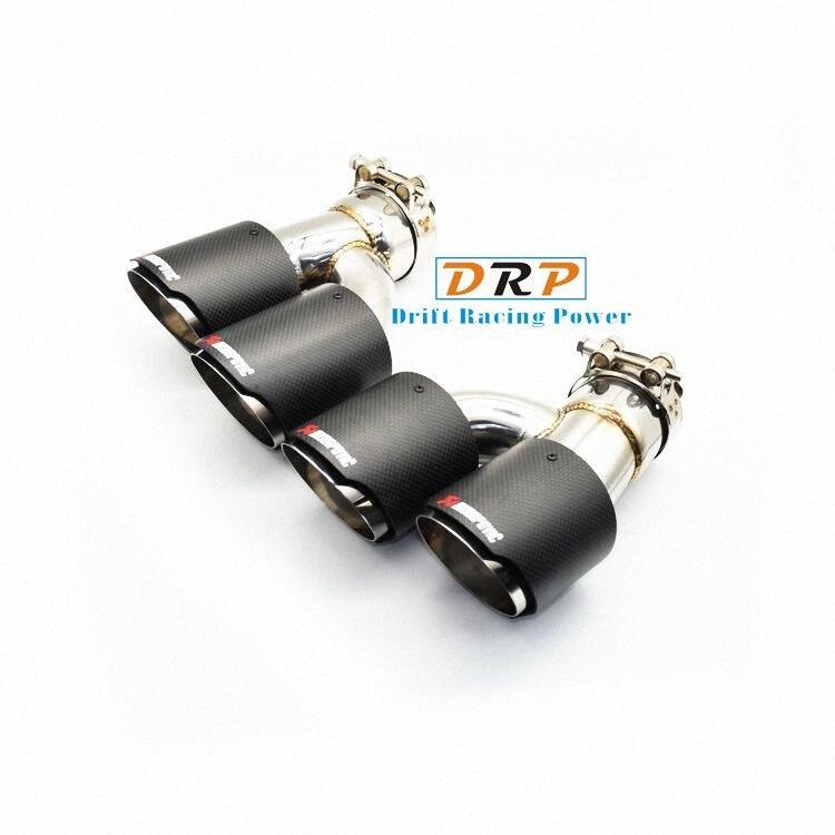 Hotselling buona qualità Acciaio Steeel Modified scarico posteriore dell'automobile di punta del silenziatore fitBMW 5series 525 528 530 punta WJff #