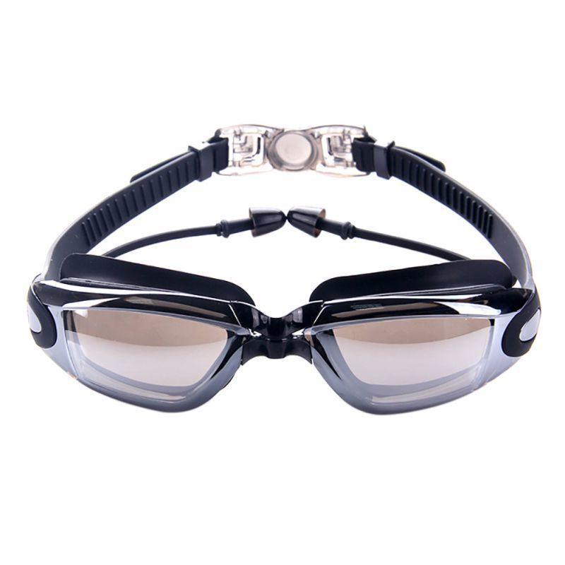 2019 المهنية سيليكون السباحة نظارات المضادة للضباب فوق البنفسجية نظارات السباحة مع سدادة رجال نساء الرياضات المائية نظارات