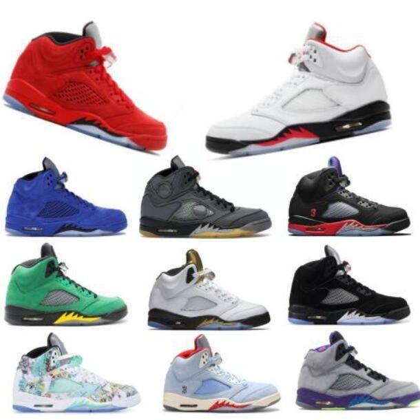 Nike Air Max Retro Jordan Shoes 5 Cement 5s Red Suede gelo azul Suede homens NakeskinJordâniaRetro tênis de basquete oreo prata Bel-Air sapatilhas esportes dos homens