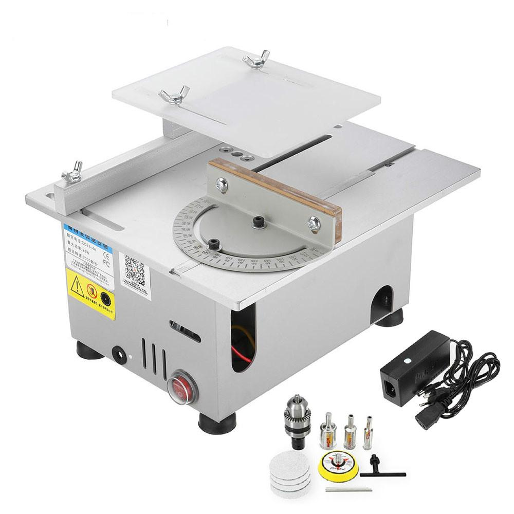 DC 12-24V T6 Mini Precision Table Saws DIY Wood Working Lathe Polisher Drilling Machine HT2828