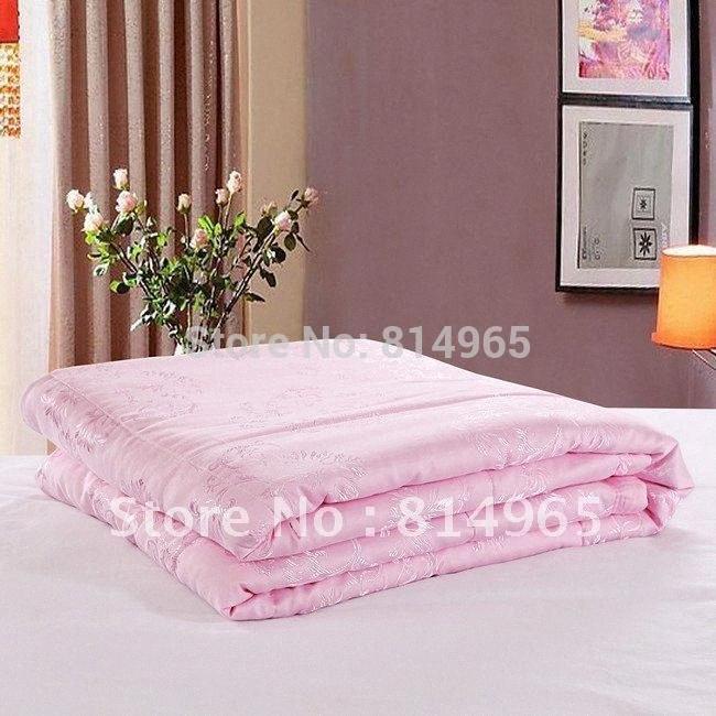 King240X210cm Ou fazer qualquer tamanho de-rosa de alta qualidade 100% Mulberry Silk Cheio Primavera / Outono / Autumn 200GSM edredon edredon Consolador WWGs #