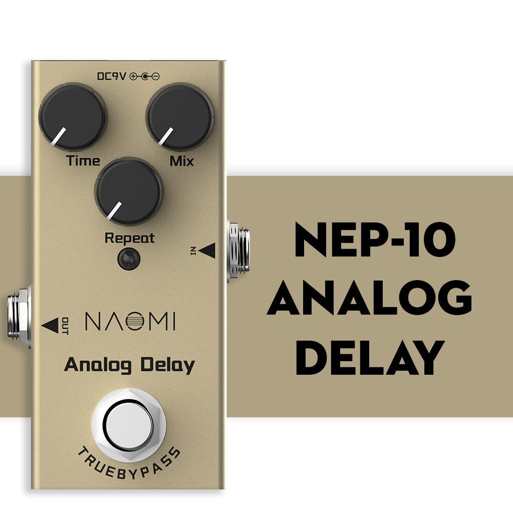 NAOMI Mini Verzögerungs-Pedal E-Gitarren-Analog Delay-Effekt-Pedal True Bypass Aluminium-Legierung Material