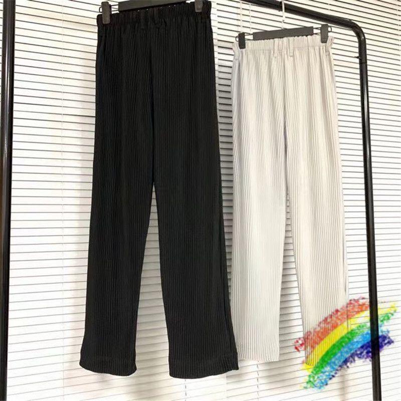 Hommes Femmes plissés Sweatpants 1 haute qualité solide couleur Joggers Streetwear pantalons à cordonnet Pantalons