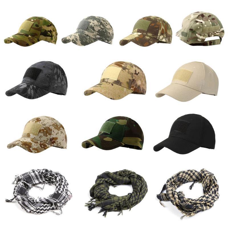 야외 모자 1pc 스포츠 전술 모자 위장 모자 단순한 군대 카모 사냥 성인을위한 Snapback Caps