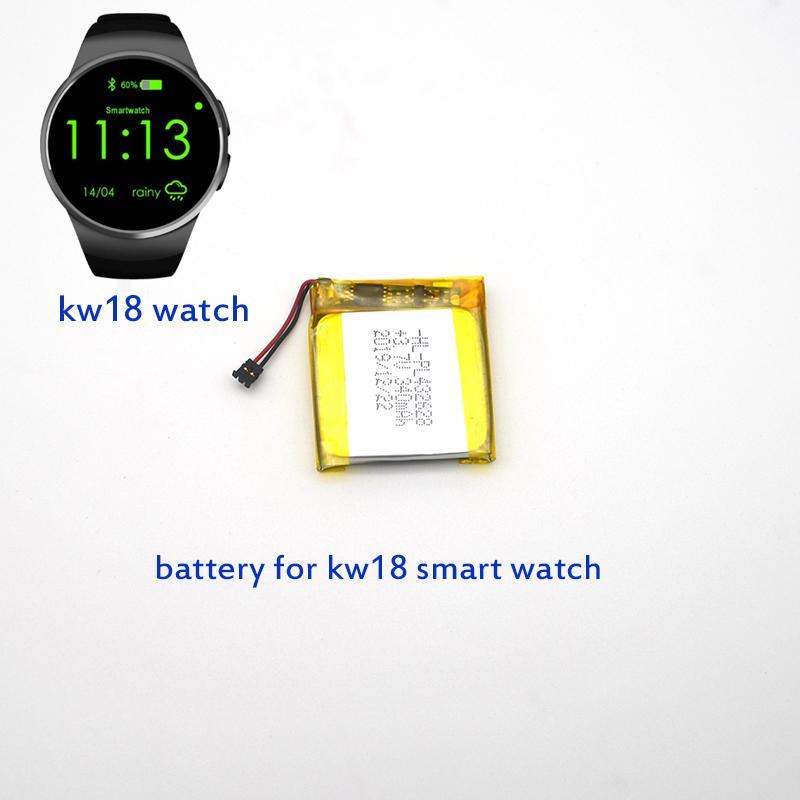 وصول جديد kw18 ساعة اليد ساعة ذكية الذكية ووتش سات ساعة على مدار الساعة مراقبة استبدال البطارية القابلة لإعادة الشحن 340mah