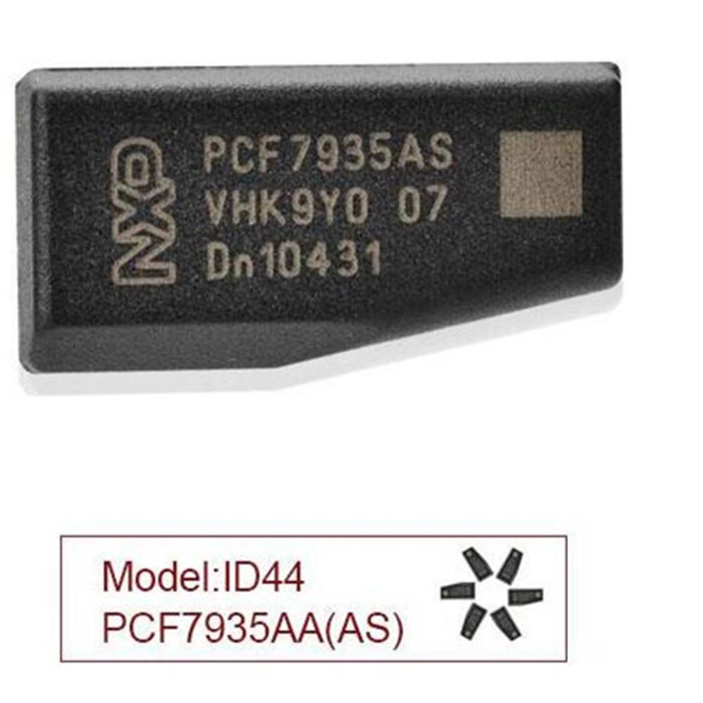 Wholsale carro PCF7935AS Transponder Chip ID44 T15 Chaves chip para Renault 10pcs um monte 7935 Chip