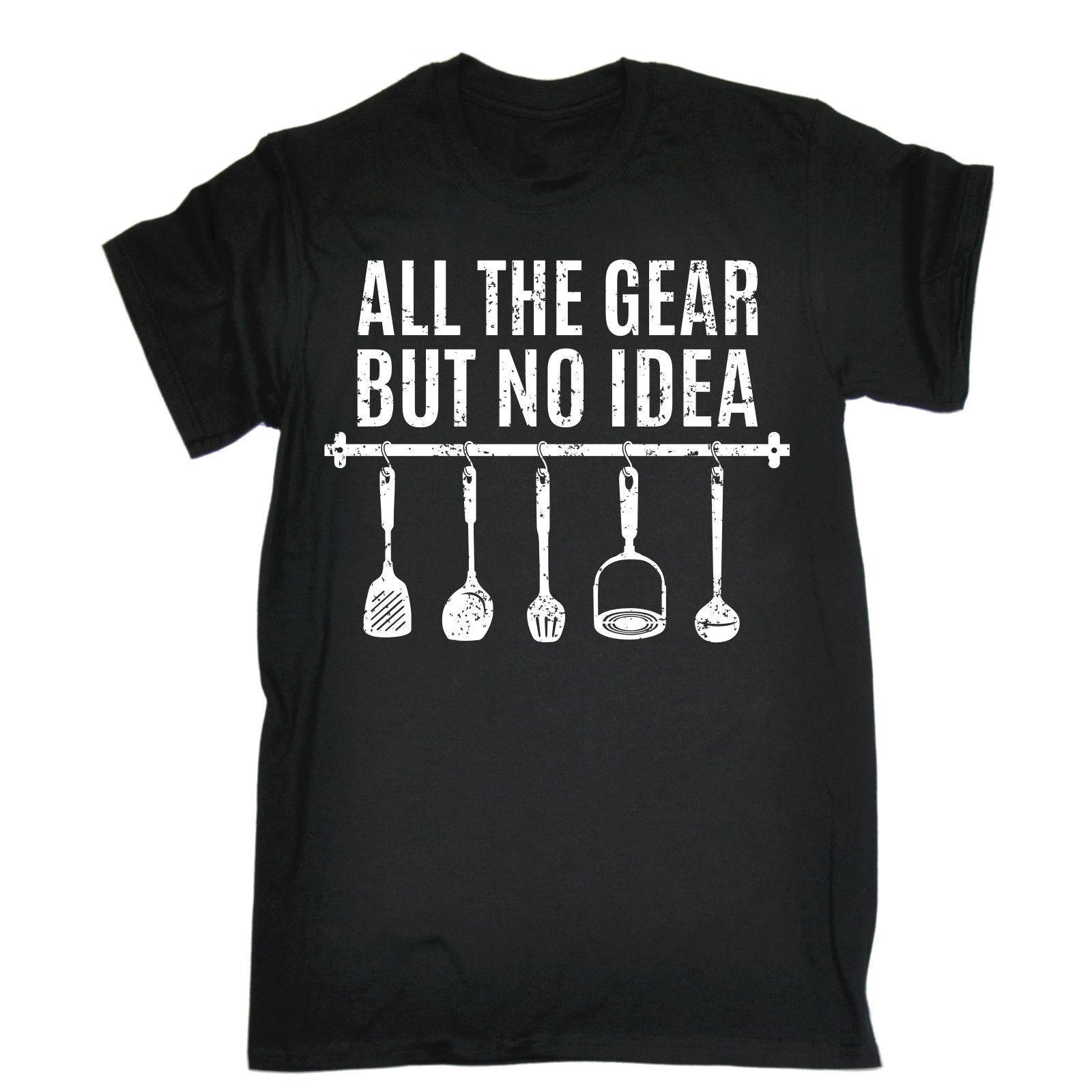 TOUS LES PRODUITS IDEA USTENSILES T-SHIRT de cuisine drôle de cadeau d'anniversaire 123T pas cher Prix 0% Coton T-shirt confortable