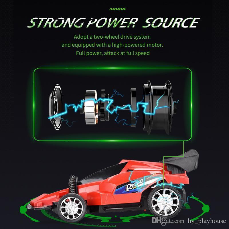 1.16 RC Auto elektrische Hochgeschwindigkeitsfernsteuerungs Antrieb Racing Fahrzeugmodelle buntes Licht Off Road Car Boy Kinder Spielzeug 08