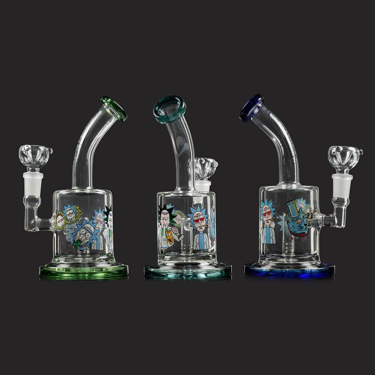 Mejor tubería de reciclado del vidrio del cubilete Bong Bong Embriagador mini-Dab Rigs Agua aceite espeso Plataformas cera de fumar pipa de agua de 14 mm de tuberías Tazón pelele