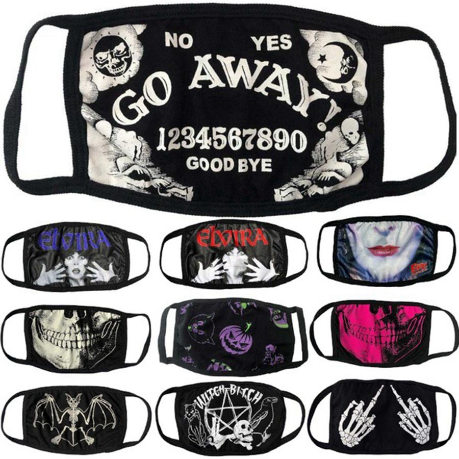 Hallowmas Череп Funny Face Mask Ice Slik пылезащитные маски моющиеся анти пыли Printing Дизайнер Маски 10styles RRA3310