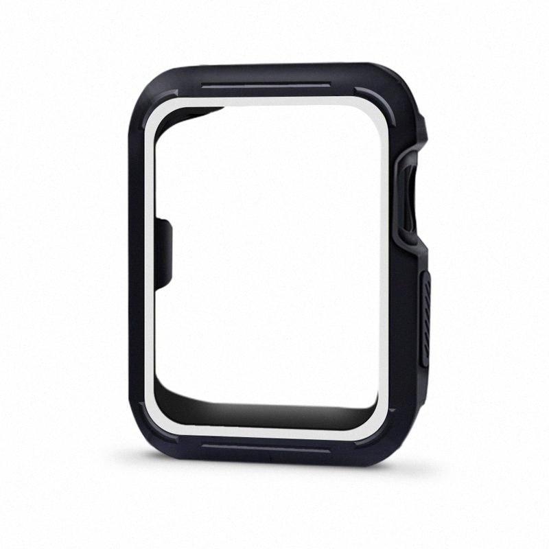 Deporte de silicona de serie Band 3/2/1 42mm 38mm Caja protectora de la correa de reloj deportivo 42mm 38mm ybNs #