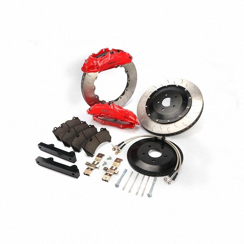Aluminium Rennwagen Teile Auto für Q5 / Q3 / A5 / A4 / 19rim 6 Sechs- Kolben Bremszangen-Kit wGI0 #