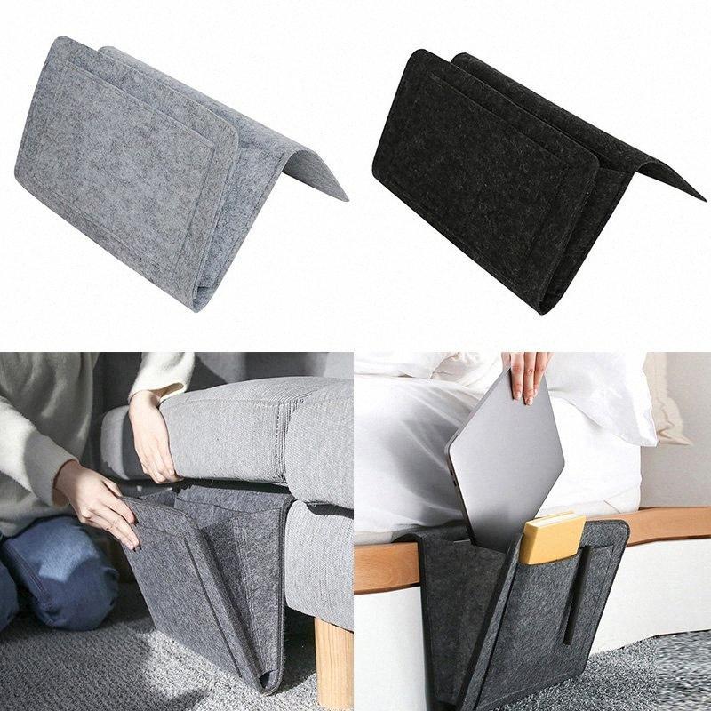Bed Storage Bag Pocket Felt Bedside Hanging Storage Organizer Dorm Room Book Magazine TV Remote Bunk Holder For Table Sofa fYJW#