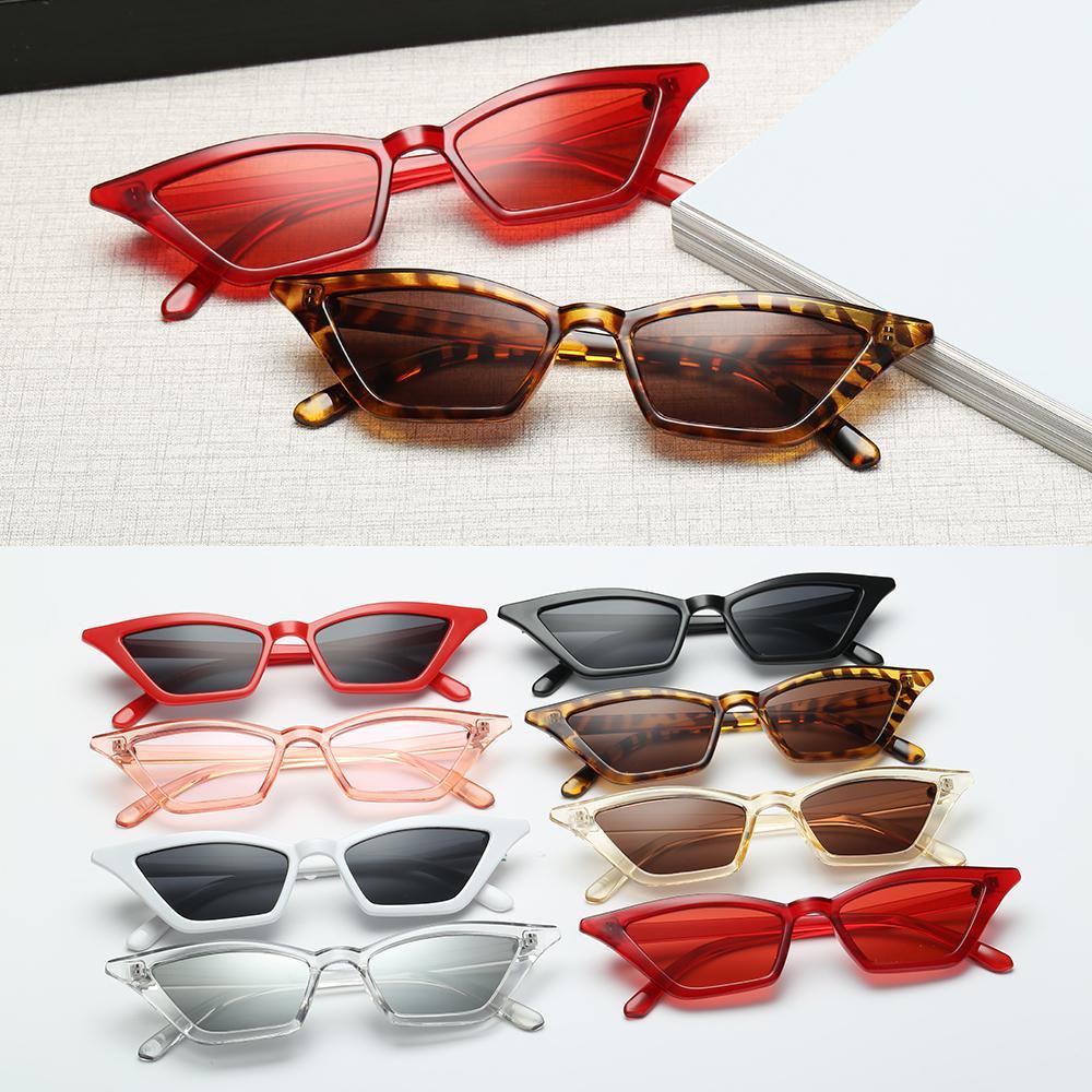 En kaliteli Kadınlar Küçük Çerçeve Vintage Kedi Göz Güneş UV400 Güneş Shades Gözlük Sokak Gözlük Eğilimleri Güneş gözlüğü Toptan