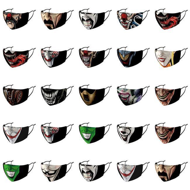 Maske Gesicht Designer Preis Einstellbare Masken Preise Joker mit Nase Joaquin Phoenix Earloop Maskenband Abdeckung Joaquin Fabrik Waren Joker AlOSg