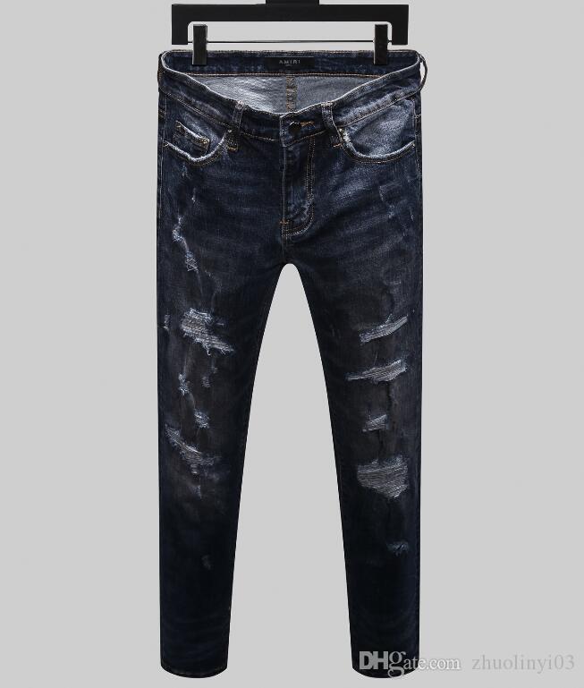 all'ingrosso 2020 di estate nuovi dei jeans del modello da uomo, produzione di denim europeo di usura benvenuto uomini di buona qualità a marchio 1VS4 Moda