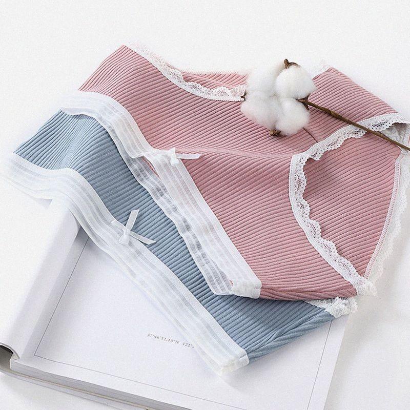 femmes sous-vêtements culottes de coton caleçons antibactériennes de dentelle transparente respirant les femmes Ropa intérieur femenina majtki damskie bragas BDIC #