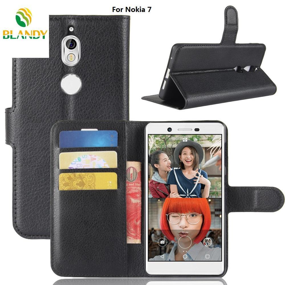 Für Nokia 1 7 und Litschi Litschi Portemonnaie Leder PU TPU Stand Telefonabdeckung Fall Fällen für Nokia 9 8 7 2