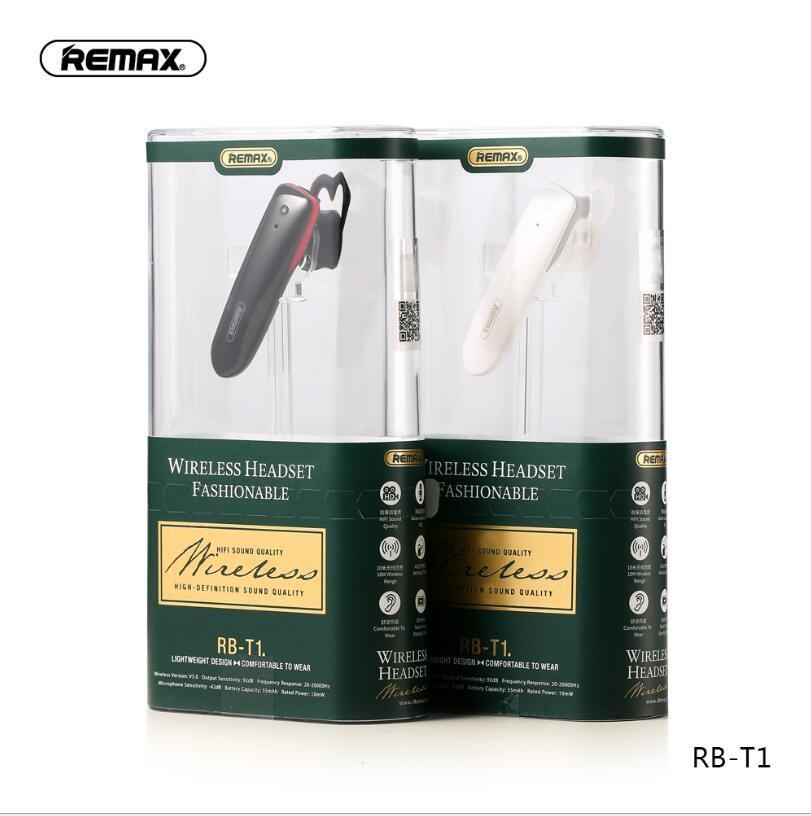 아이폰 삼성 HTC 샤오 미를위한 Remax의 RB-T1 T9 T22 블루투스 헤드셋 무선 음악 이어폰 HD 사운드 마이크 화웨이 + 소매 패키지