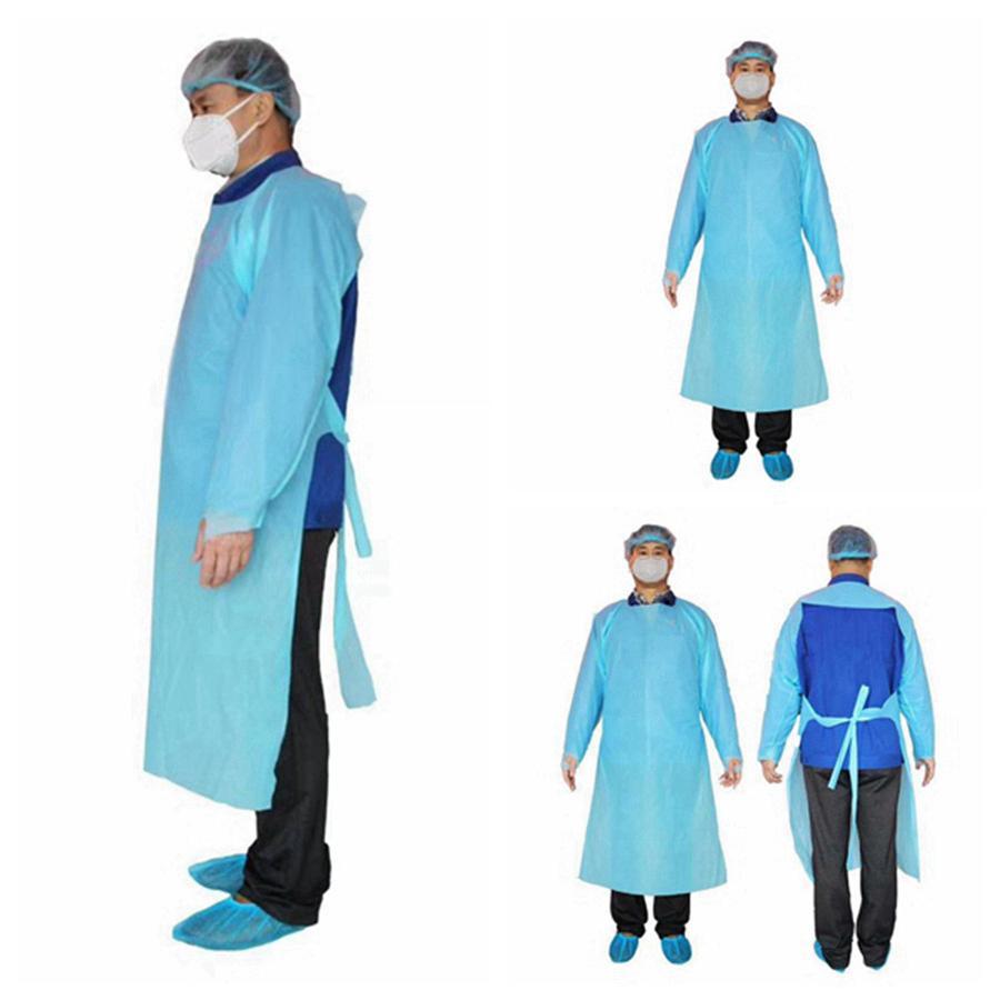 CPE protezione Abbigliamento monouso Isolamento abiti Abbigliamento Tute antipolvere abbigliamento outdoor protezione monouso Impermeabili RRA3330