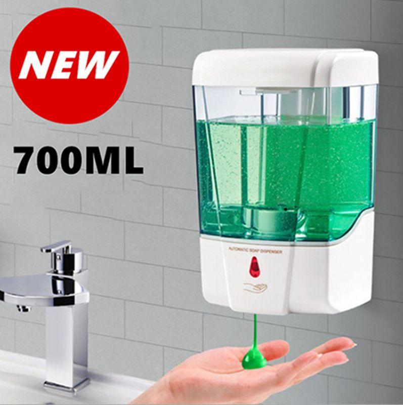 700ML Wall Mounted Soap Dispenser Automatic Sensor Sanitizer Shampoo Dispenser Kitchen Bathroom Touchless Liquid Soap Dispensers IIA387