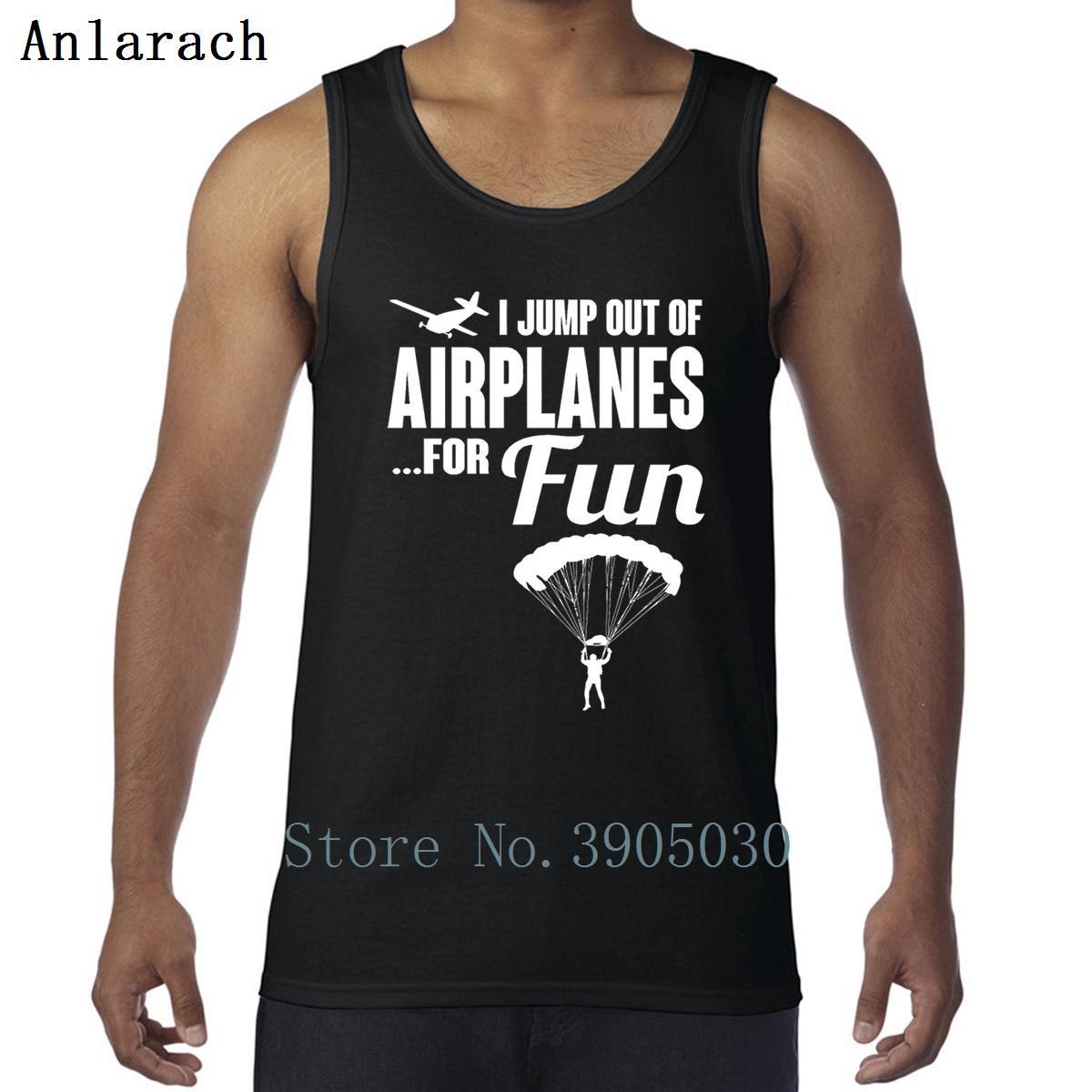 Pára-quedista I saltar de aviões For Fun Vest Hot Sale malha de alta qualidade alças Undershirt Men gola redonda Estilo Verão