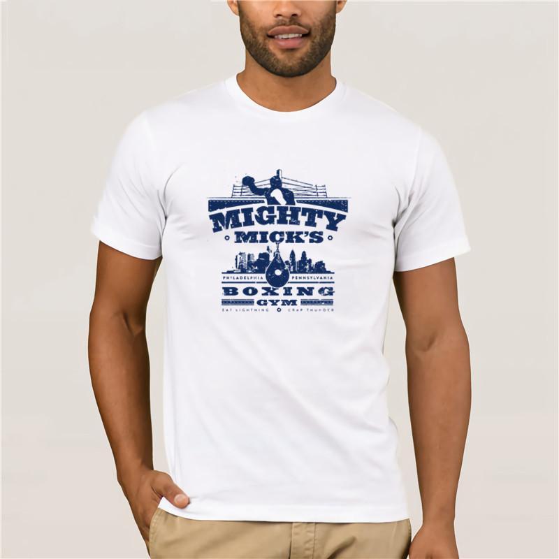 T-shirt imprimé col ras du cou à manches courtes T-shirt puissant Mick hommes T-shirt Gym de boxe occasionnels