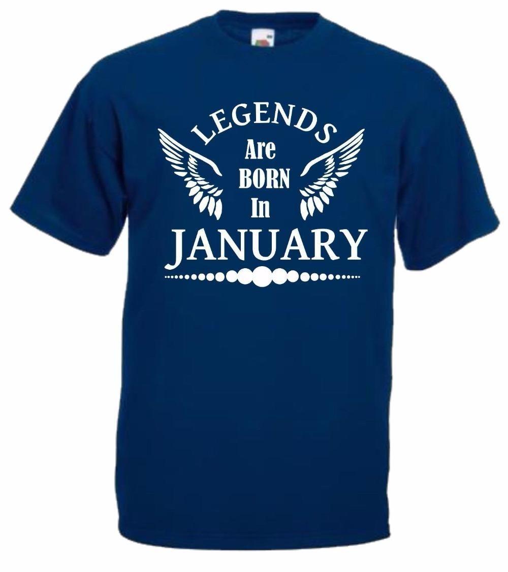 Legenden geboren im Januar Geburtstag-Geschenk-Geschenk neue Art und Weise Männer Männer Hip Hop 3D-Druck-Neuheit-T-Shirts