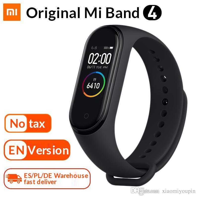 Original Mi Banda 4 inteligente Pulseira Xiaomi aptidão rastreador relógio Heart Rate Monitor sono 0,95 polegadas OLED Band4 Bluetooth
