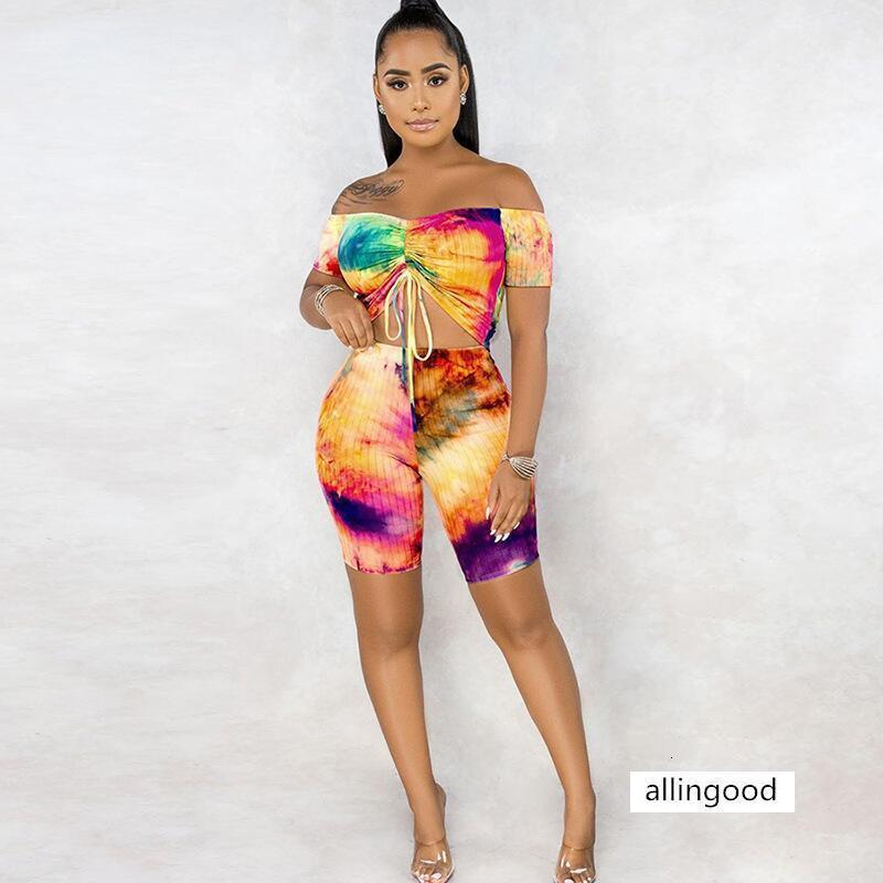 Heißer Verkauf der Sommerfrauen sexy Tie-Dye bunte Mode Yoga-Anzug für Frauen