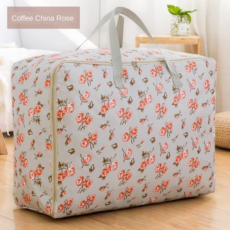 doqQS portátil bagagem extra grande de armazenamento bolsa de lona de armazenamento de cama de algodão saco de lona roupas arranjo pacote movendo engrossado para embalar