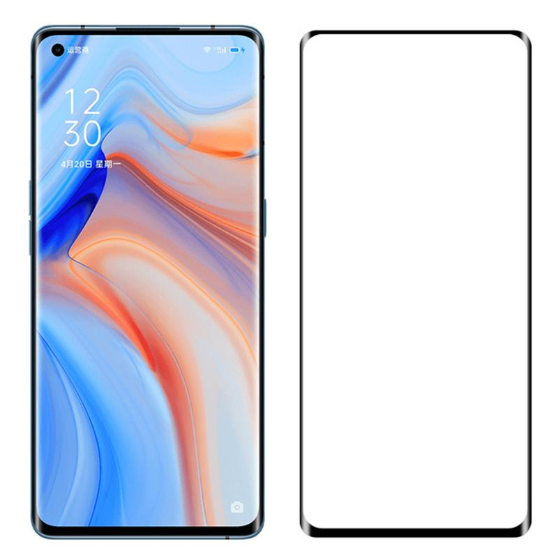 3D Curved Tempered Glass Screen Protector Cover Premium Full Coverage Film Guard For OPPO FIND X2 Reno 4 Pro 3