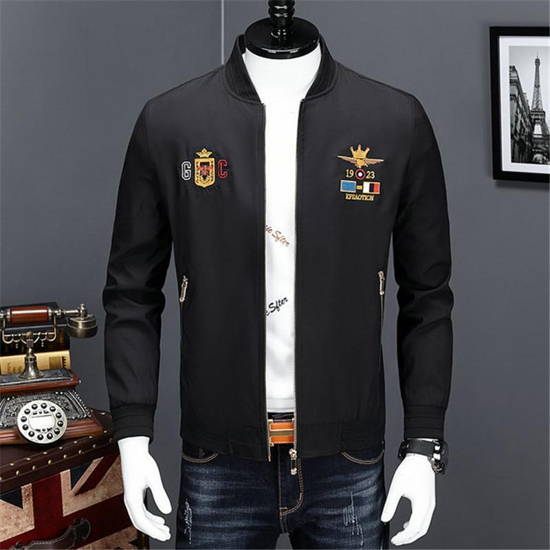 Erkek Tasarımcı Kapşonlu Ceketler = WINDBREAKER Spor Yeni Bahar Sonbahar Casual Ceket Giyim Fermuar Yaka Ekose Baskılı İnce Ceket ~ 60