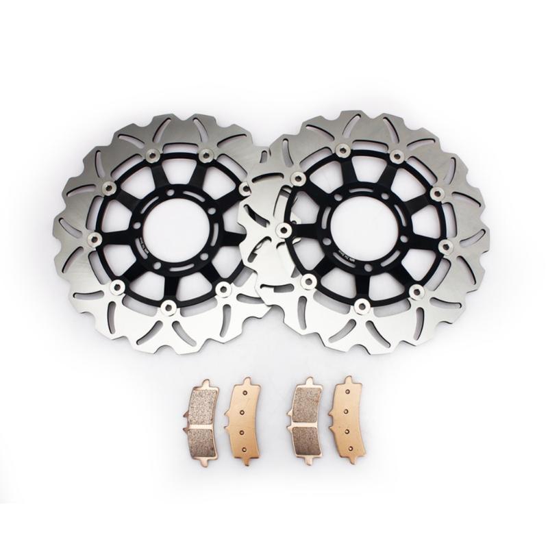 BIKINGBOY Комплекты Передние тормозные диски Диски Роторы колодки для Daytona 675 2006 2007 2008 06 07 08