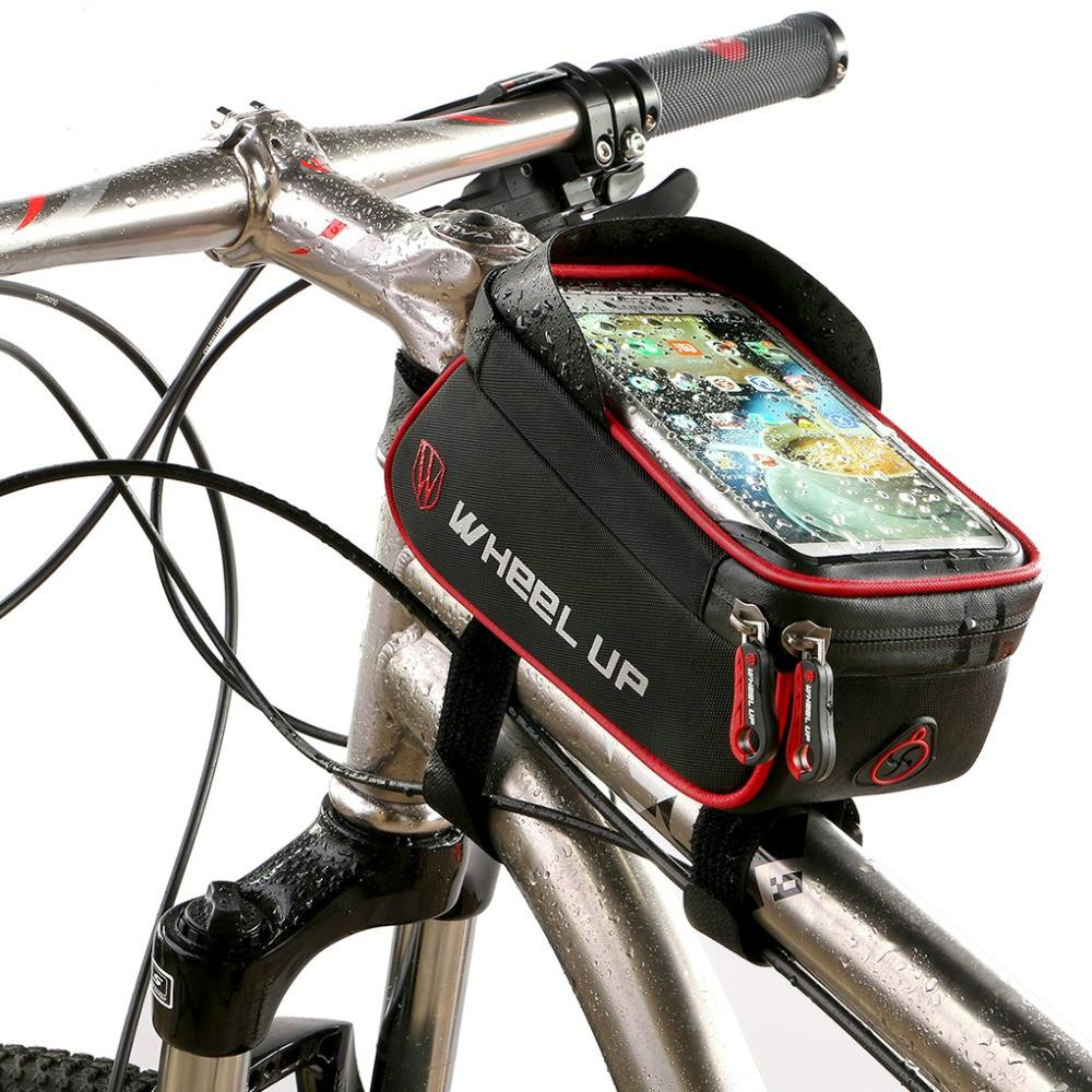 Bike Front Frame Tube Small Panniers Bag Pouch Bicycle Cycling Mountain UK