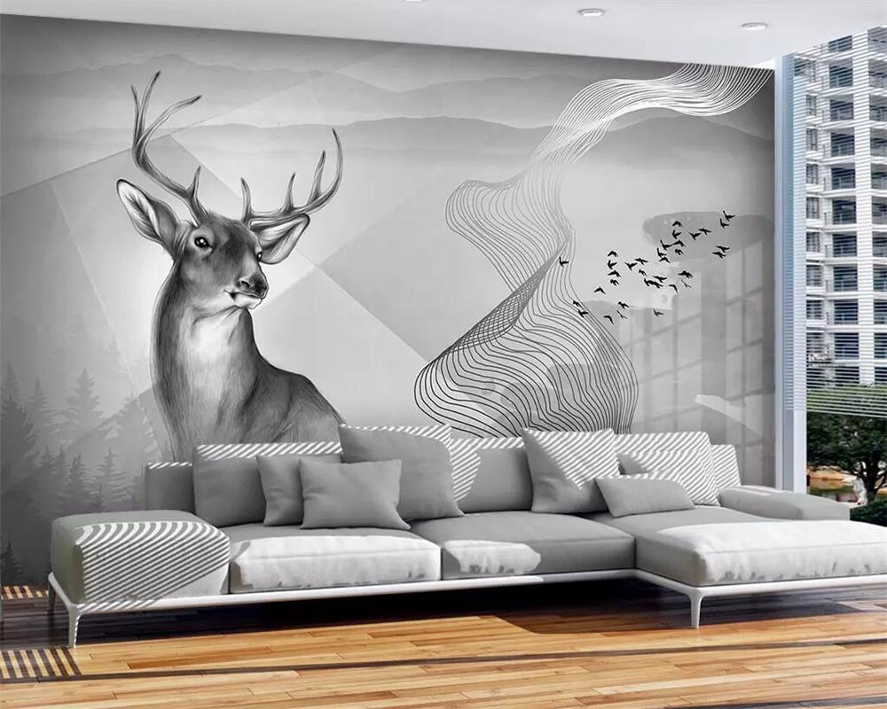 beibehang Mural обои личность цемент стена лоси пейзаж гостиная спальня ТВ фоне украшение дома 3d обои